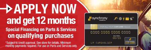 Synchrony Financing Available!